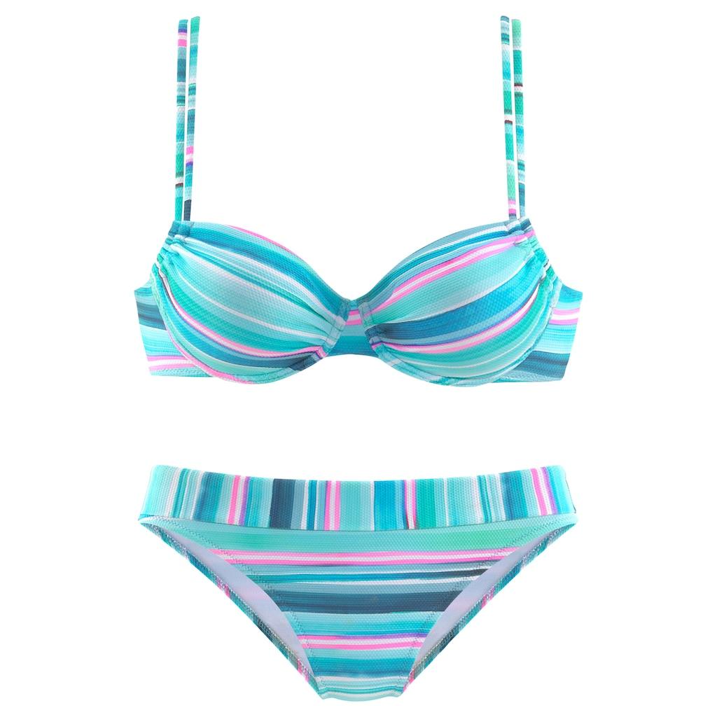 Venice Beach Bügel-Bikini, in gestreifter Piqué-Qualität