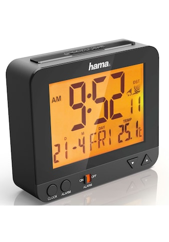 """Hama Funkwecker """"RC 550"""", mit Nachtlicht-Funktion, Schwarz kaufen"""
