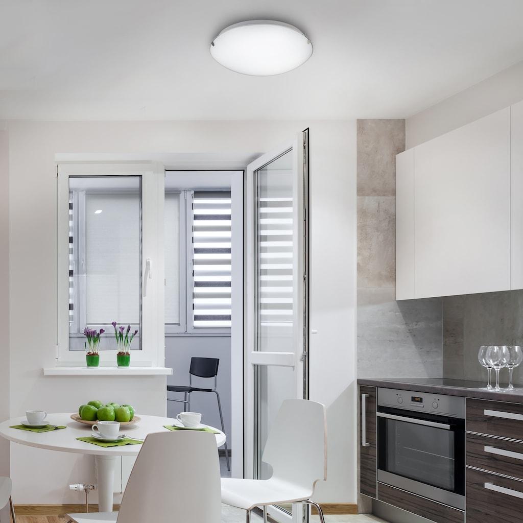 B.K.Licht LED Deckenleuchte »Amaris«, LED-Board, Warmweiß, LED Deckenlampe Glas-Lampe Bad-Leuchte Licht Wohnzimmer Küche 11W