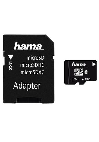 Hama microSDHC 32 GB Class 10 22MB/s + Adapter/Mobile kaufen