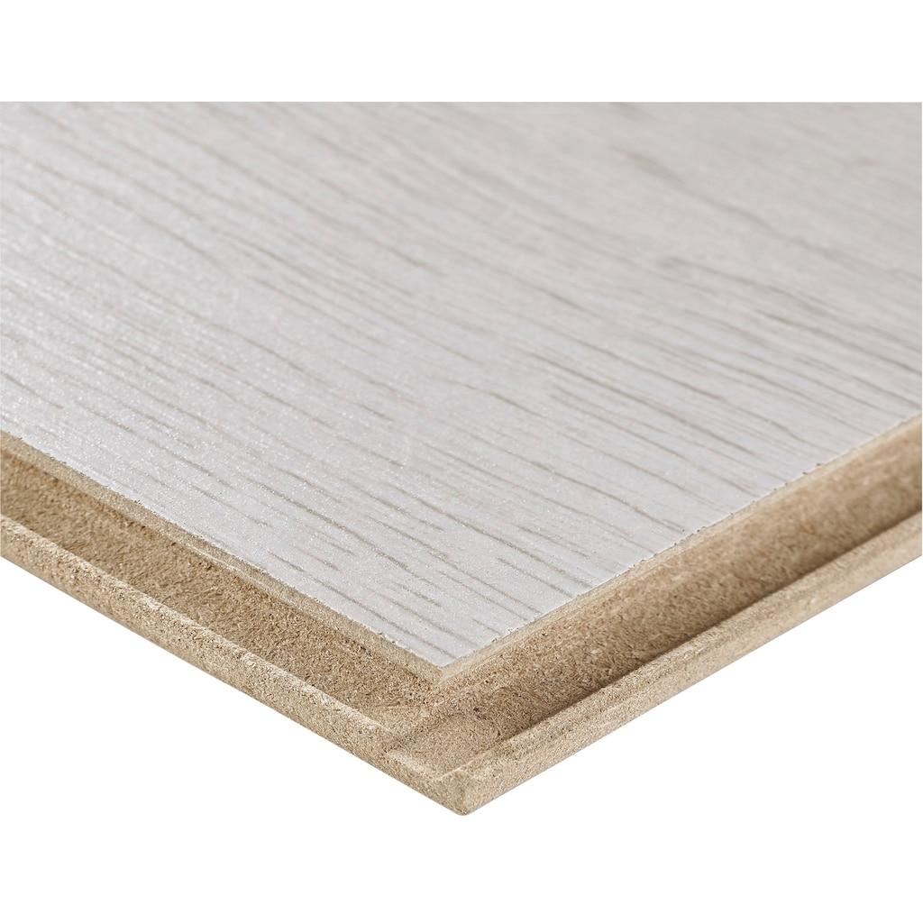 BODENMEISTER Laminat »Dielenoptik Eiche weiß«, 1376 x 193 mm, Stärke: 7mm