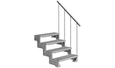 DOLLE Außentreppe »Gardentop«, für Geschosshöhen bis 88 cm, Gitterroststufen 100 cm kaufen