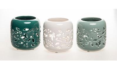 VALENTINO Wohnideen Windlicht »Denali«, mit Weihnachtsmotiv, in 3 unterschiedlichen Farben kaufen