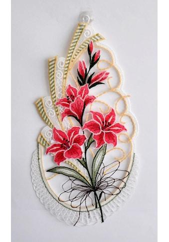 Stickereien Plauen Fensterbild »Blütenzweig« kaufen