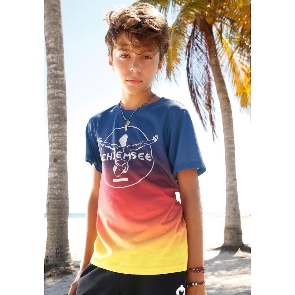 Chiemsee T-Shirt, im Farbverlauf mit Druck vorn