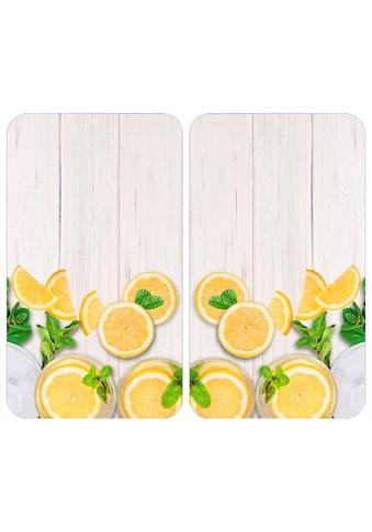 "WENKO Herd - Abdeckplatte ""Universal Zitronen"", Glas Kunststoff, (Set, 2 - tlg.) kaufen"