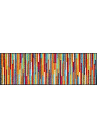 wash+dry by Kleen-Tex Läufer »Mikado Stripes«, rechteckig, 7 mm Höhe, In- und Outdoor geeignet, waschbar kaufen