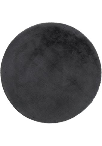 Andiamo Fellteppich »Novara«, rund, 35 mm Höhe, Kunstfell, Kaninchenfell-Haptik, ein echter Kuschelteppich, Wohnzimmer kaufen
