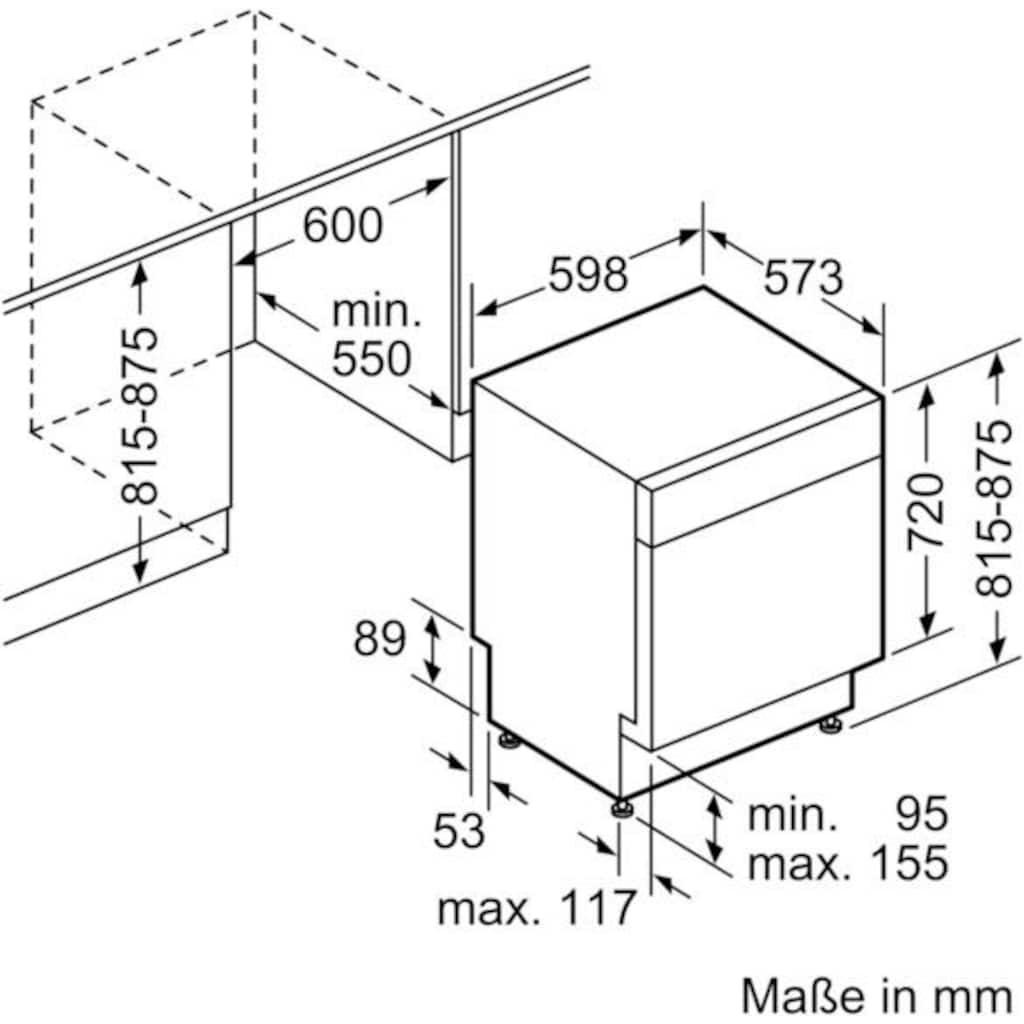 SIEMENS Unterbaugeschirrspüler »iQ300 SN436S00EE«, iQ300, SN436S00EE, 9,5 l, 13 Maßgedecke