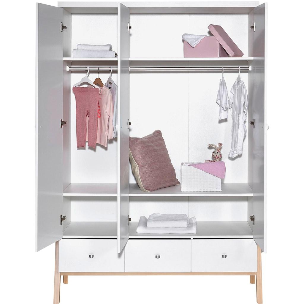 Schardt Babyzimmer-Komplettset »Holly Nature«, (Set, 3 St.), Made in Germany; mit Kinderbett, Schrank und Wickelkommode
