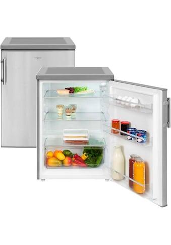 exquisit Table Top Kühlschrank »KS 18-17 RVA++ Inoxlook«, KS 18-17 RVA++ Inoxlook, 85 cm hoch, 60 cm breit kaufen