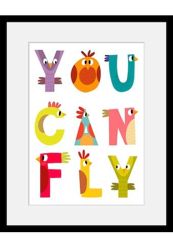 Home affaire Bild »You can fly«, mit Rahmen kaufen