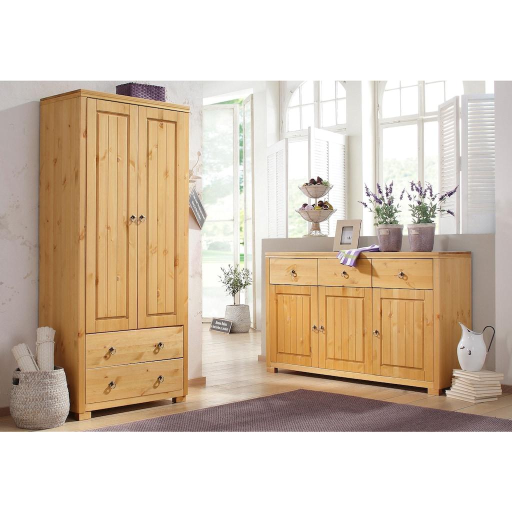 Home affaire Kleiderschrank »Gotland«, Höhe 178 cm, mit Holztüren