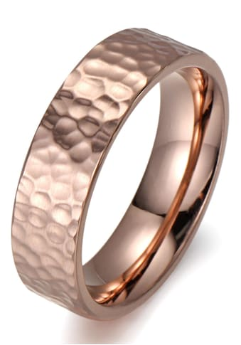 Firetti Fingerring »8,0 mm, in Glanzoptik, matt, strukturiert, IP - beschichtet, feminin« kaufen