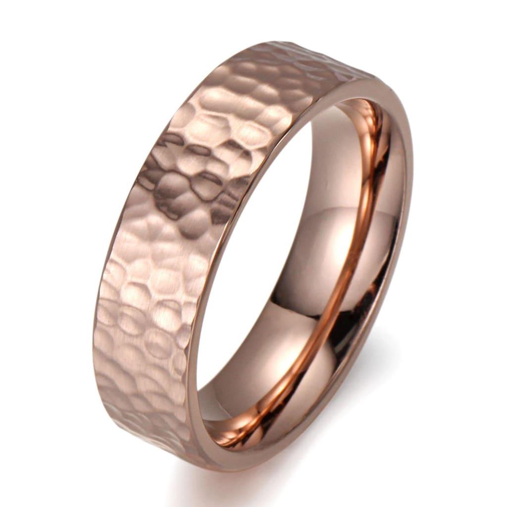 Firetti Fingerring »8,0 mm, in Glanzoptik, matt, strukturiert, IP-beschichtet, feminin«