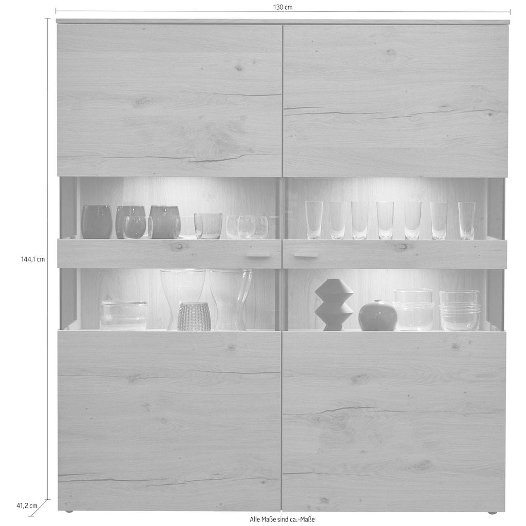 GWINNER Highboard »ANZIO HOLZ 151«, Breite 130 cm