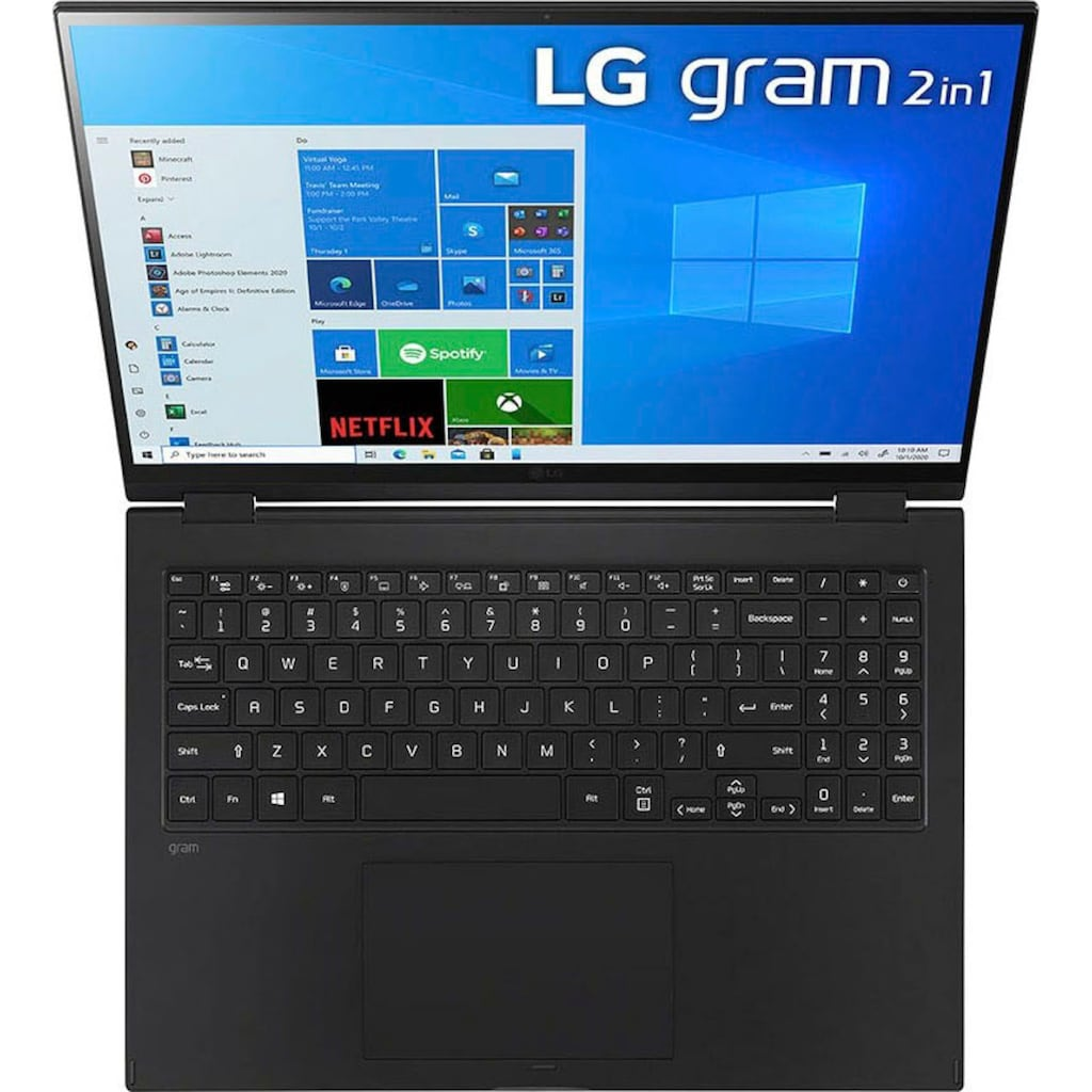 "LG Notebook »Gram 16T90P-G.AA75G«, (40,6 cm/16 "" Intel Core i7 Iris© Xe Graphics\r\n 512 GB SSD), Kostenloses Upgrade auf Windows 11, sobald verfügbar"