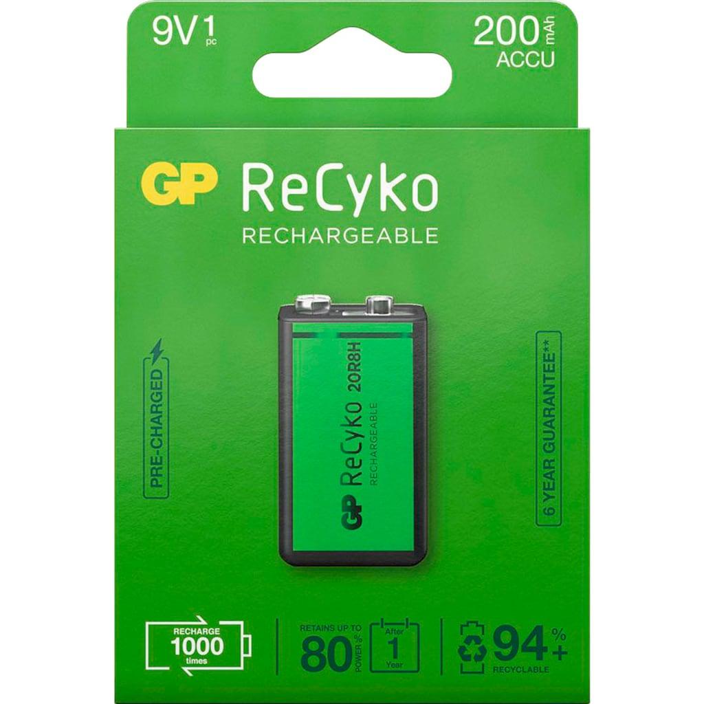 GP Batteries Akku »9V Akku GP NiMH 200 mAh ReCyko 8,4V 1 Stück«