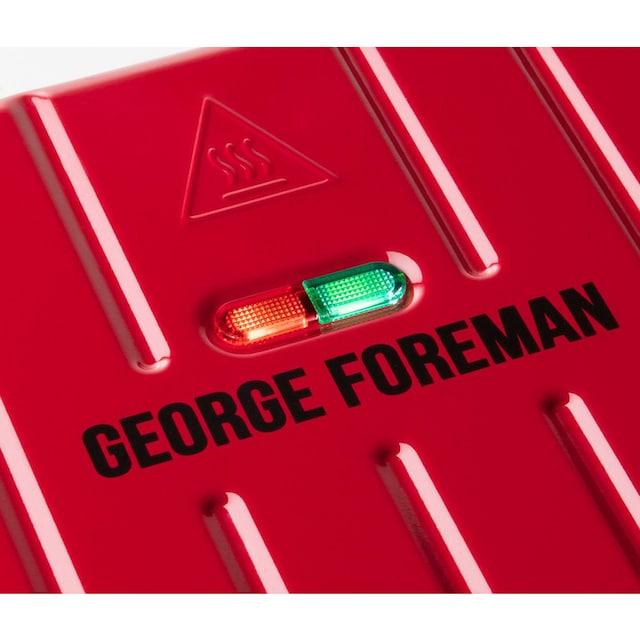 George Foreman Kontaktgrill Steel Compact Fitnessgrill rot 25030-56, 1200 Watt, 12000 Watt