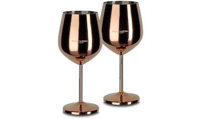 ECHTWERK Weinglas, (Set, 2 tlg.), PVD Beschichtung, 2-teilig kaufen