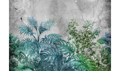 CONSALNET Papiertapete »Pflanzen auf Beton«, in verschiedenen Größen kaufen
