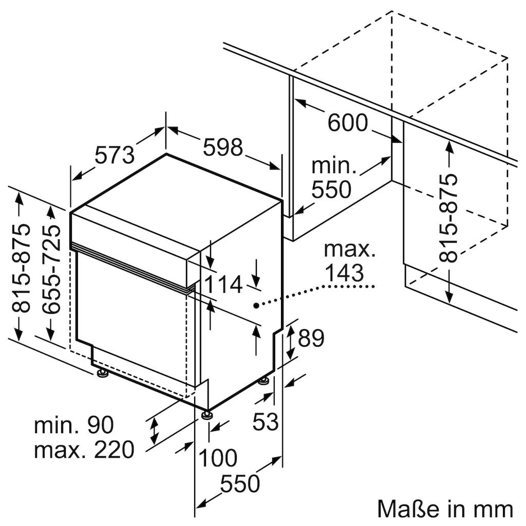 BOSCH teilintegrierbarer Geschirrspüler »SMI4HCS48E«, Serie 4, SMI4HCS48E, 14 Maßgedecke
