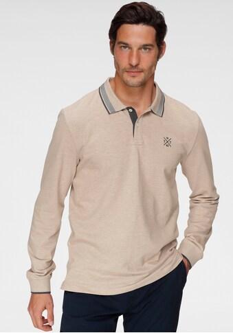 TOM TAILOR Langarm-Poloshirt, mit Logostickerei auf der Brust kaufen