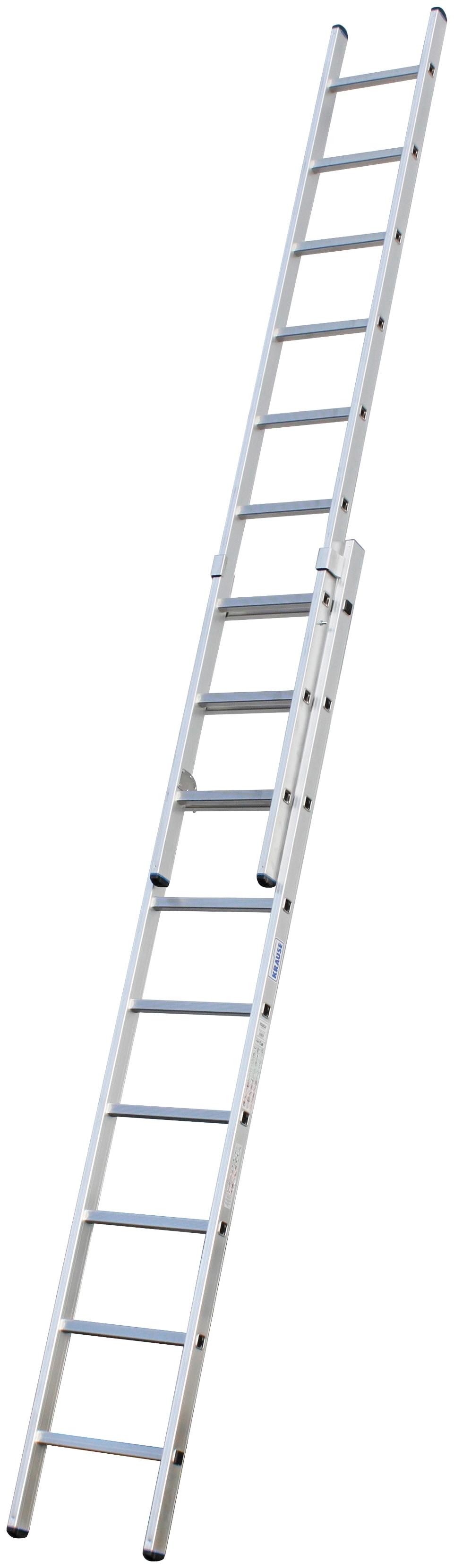 KRAUSE Schiebeleiter »STABILO«, zweiteilig | Baumarkt > Leitern und Treppen > Schiebeleiter | Silberfarben | Aluminium | KRAUSE