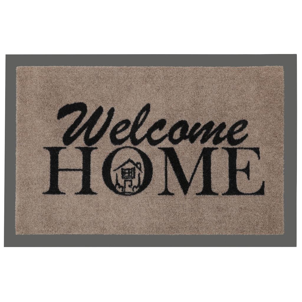 HANSE Home Fußmatte »Welcome Home«, rechteckig, 7 mm Höhe, Fussabstreifer, Fussabtreter, Schmutzfangläufer, Schmutzfangmatte, Schmutzfangteppich, Schmutzmatte, Türmatte, Türvorleger, mit Spruch