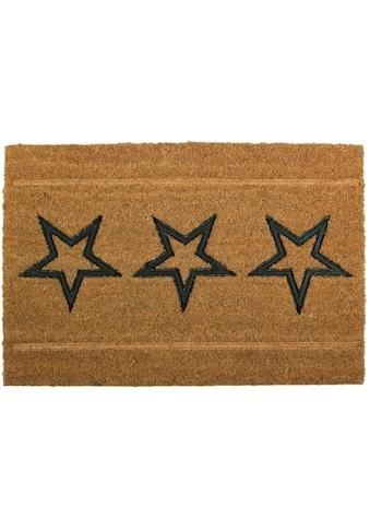 Delindo Lifestyle Fußmatte »Sterne«, rechteckig, 15 mm Höhe, Schmutzfangmatte,... kaufen