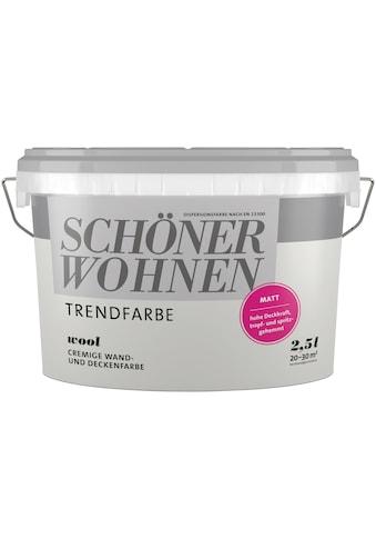 SCHÖNER WOHNEN-Kollektion Wand- und Deckenfarbe »Trendfarbe«, wool, 2,5 l kaufen