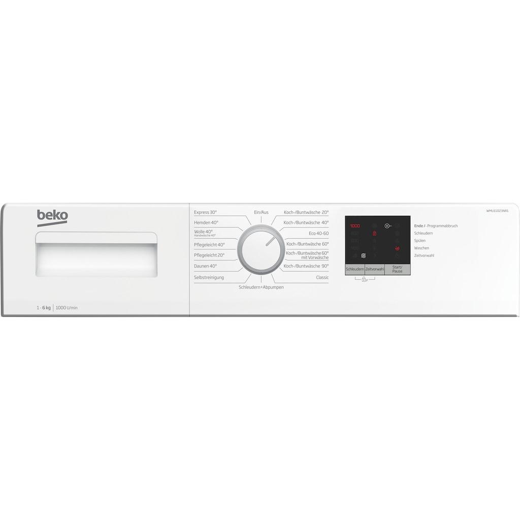BEKO Waschmaschine »WML61023NR1«, WML61023NR1, 6 kg, 1000 U/min