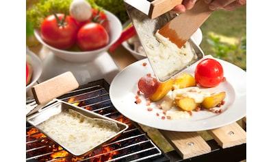 hecht international Grillpfanne »Gustico«, Edelstahl, mit Holzspatel, 2 Stk. kaufen