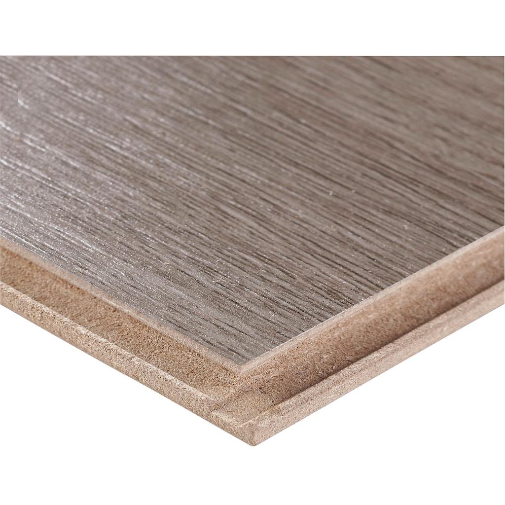 BODENMEISTER Spar-Set: Laminat »Dielenoptik Eiche grau braun«, 1376 x 193 mm, Stärke: 7mm