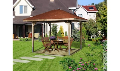 weka Pavillon »Paradies 1«, (Set), BxT: 294x294 cm, inkl. Dachschindeln und Pfostenanker kaufen