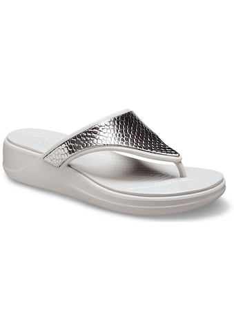 Crocs Zehentrenner »Monterey Metallic«, in Metallic-Optik kaufen