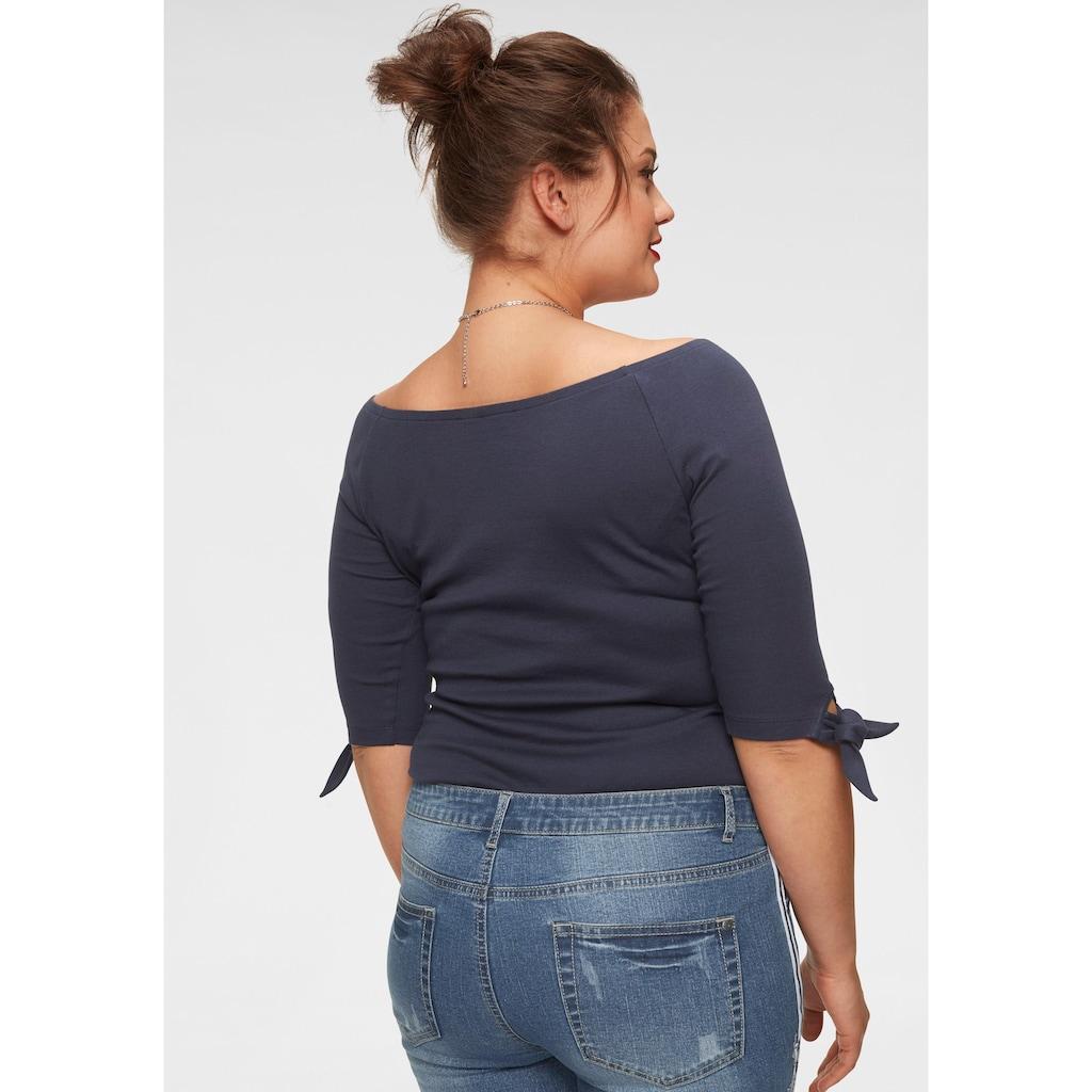 Arizona Carmenshirt »Off-shoulder«, variabel tragbar, mit Knotendetail