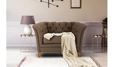 Home affaire Sessel »Newport«, mit Knopfheftung im Rücken, Keder und feinen Armlehnen kaufen