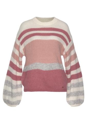 Pepe Jeans Strickpullover »MIMIE«, in dreifarbig gestreifter Optik und aus... kaufen