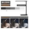 Brandson dimmbare LED Schreibtischlampe in Lederoptik »Temperatur-, Alarm- & Kalenderfunktion«