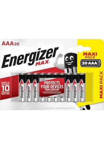 Energizer »MAX AAA 20er Pack« Batterie (20 Stück) kaufen