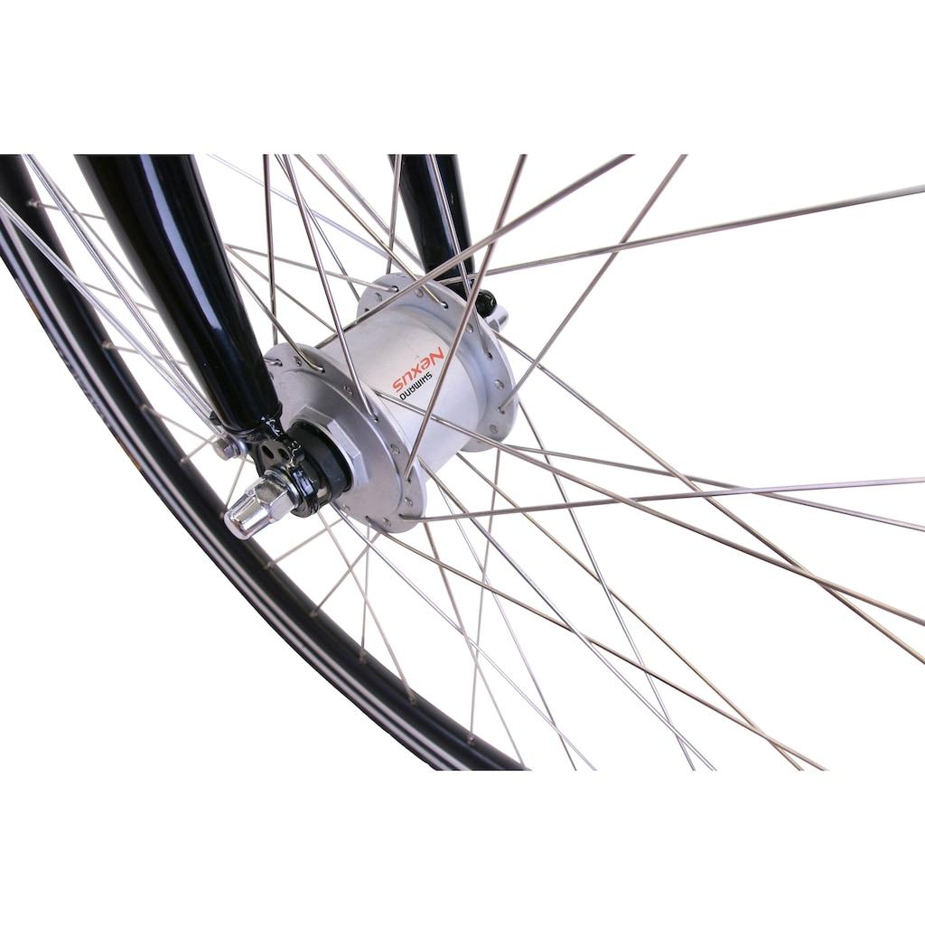 HAWK Bikes Cityrad »HAWK City Wave Deluxe Plus White«, 7 Gang, Shimano, Nexus Schaltwerk