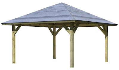 Karibu Pavillon »Kirn1«, (Set), BxTxH: 431x431x315 cm, mit H-Pfostenanker kaufen