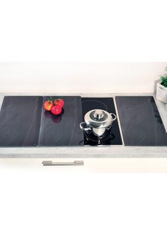 """KESPER for kitchen & home Schneide -  und Abdeckplatte """"Schiefer - Optik"""", ESG - Sicherheitsglas, (Packung, 3 - tlg.) kaufen"""