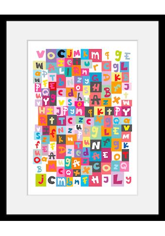 Home affaire Bild »Buchstabensalat«, mit Rahmen kaufen