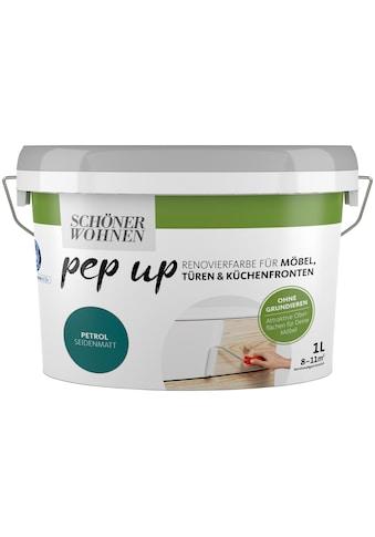 SCHÖNER WOHNEN-Kollektion Lack »pep up - petrol«, seidenmatt, für Möbel, Türen und... kaufen