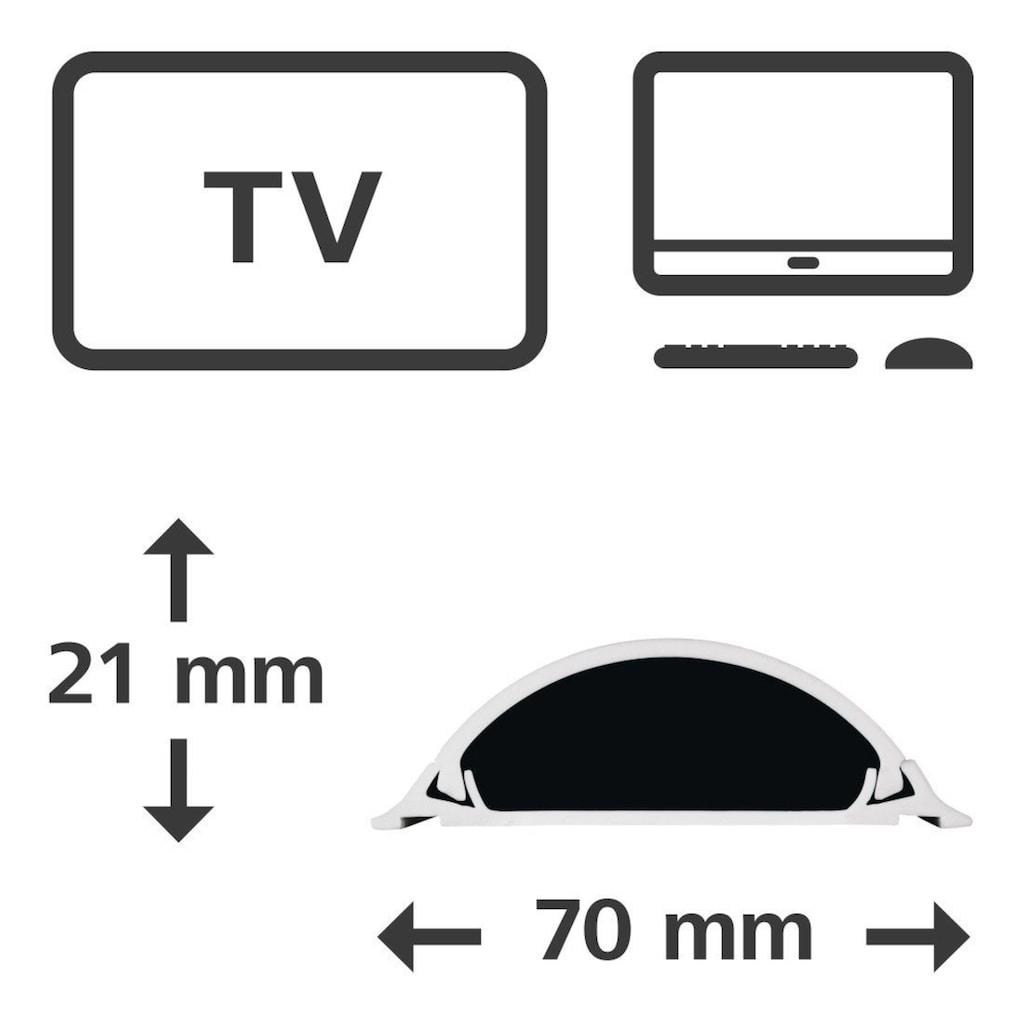 Hama Kabelkanal »Selbstklebend mit 3M-Klebeband«, halbrund, 100/7/2,1 cm, weiß