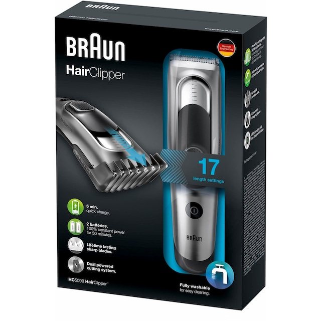 Braun Haar- und Bartschneider HC5090, Aufsätze: 2 Stk.