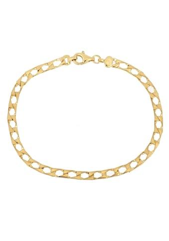 Firetti Armband »Panzerkettengliederung, 4,1 mm, glanz, vergoldet, 4 - fach diamantiert« kaufen