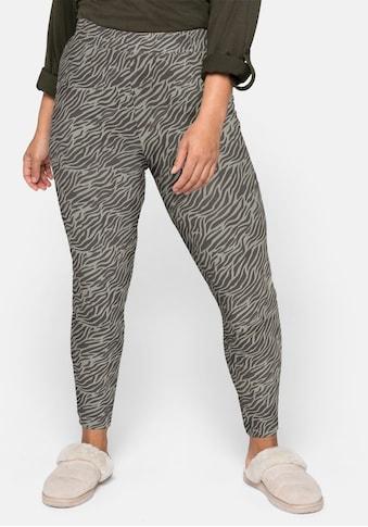 Sheego Leggings, mit Muster und Schlupfbund kaufen